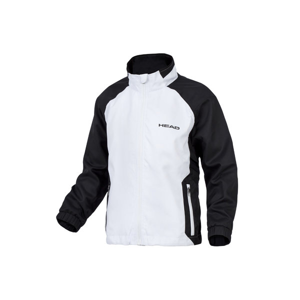 HEAD BLUZA ROZPINANA TEAM JACKET JR white/black