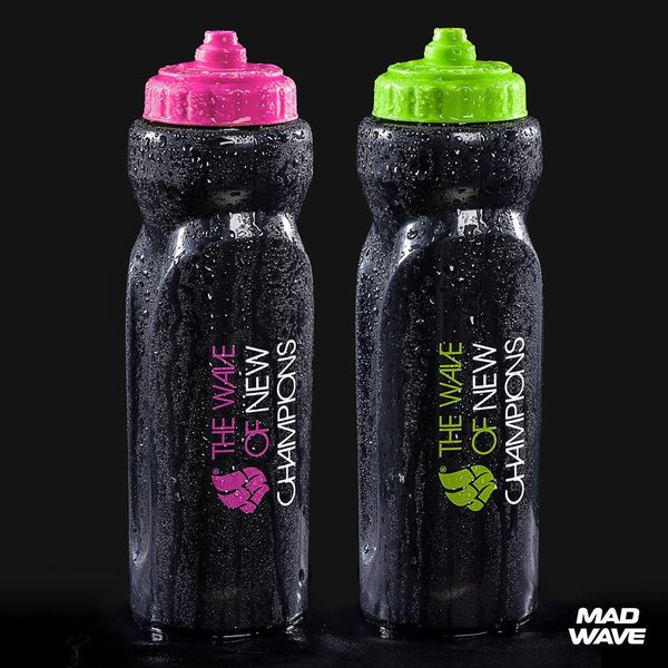 MAD WAVE  BIDON 1000 ml  WATER BOTTLE PINK   M139002021W